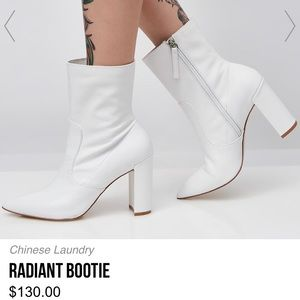 White Radiant Bootie ✨ Chinese Laundry size 8.5